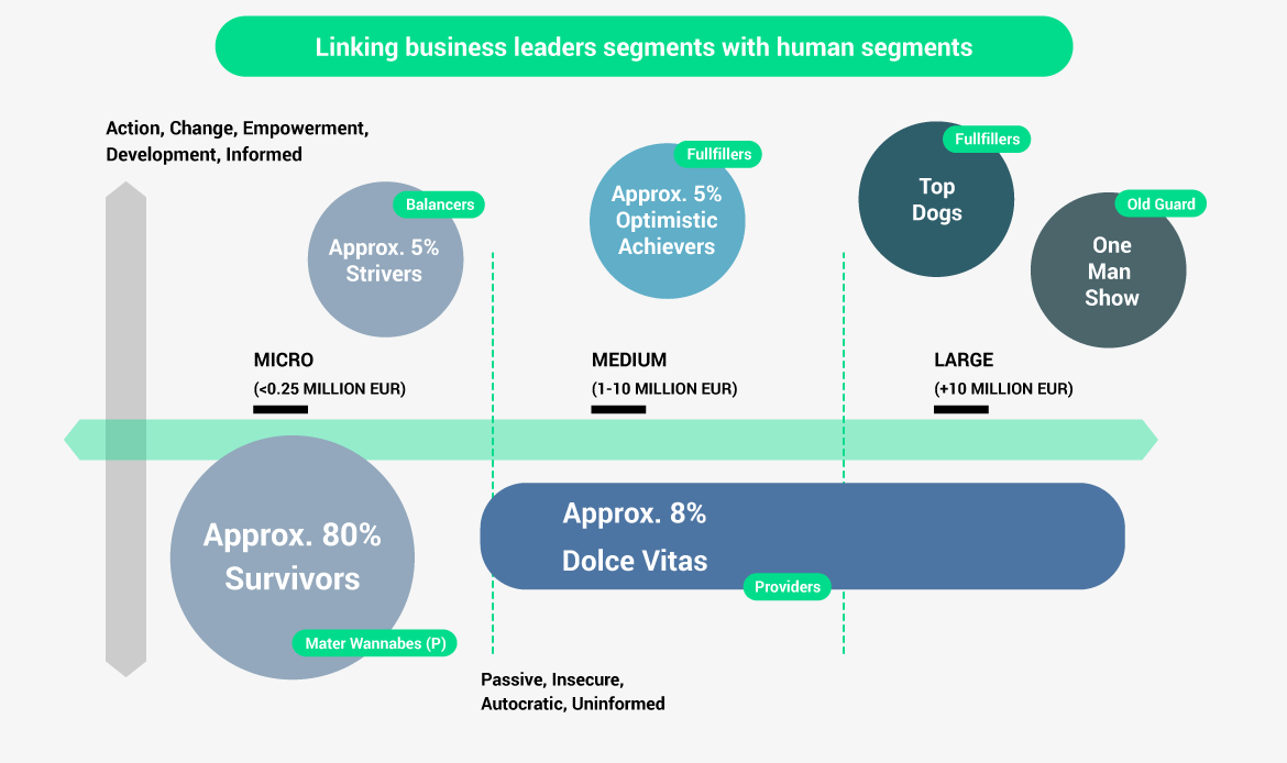 Linking business leaders segments